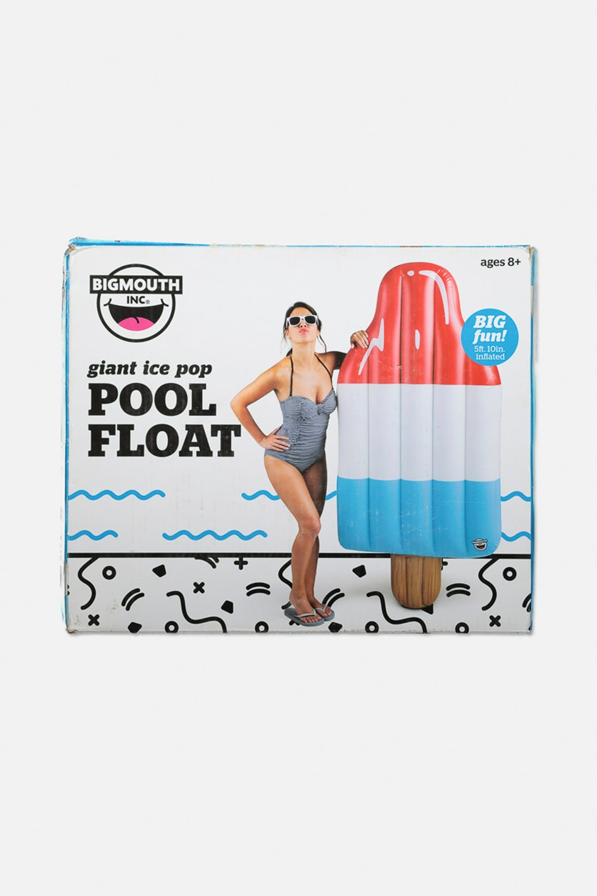Giant Inflatable Ice Pop Pool Float, Red/White/Blue