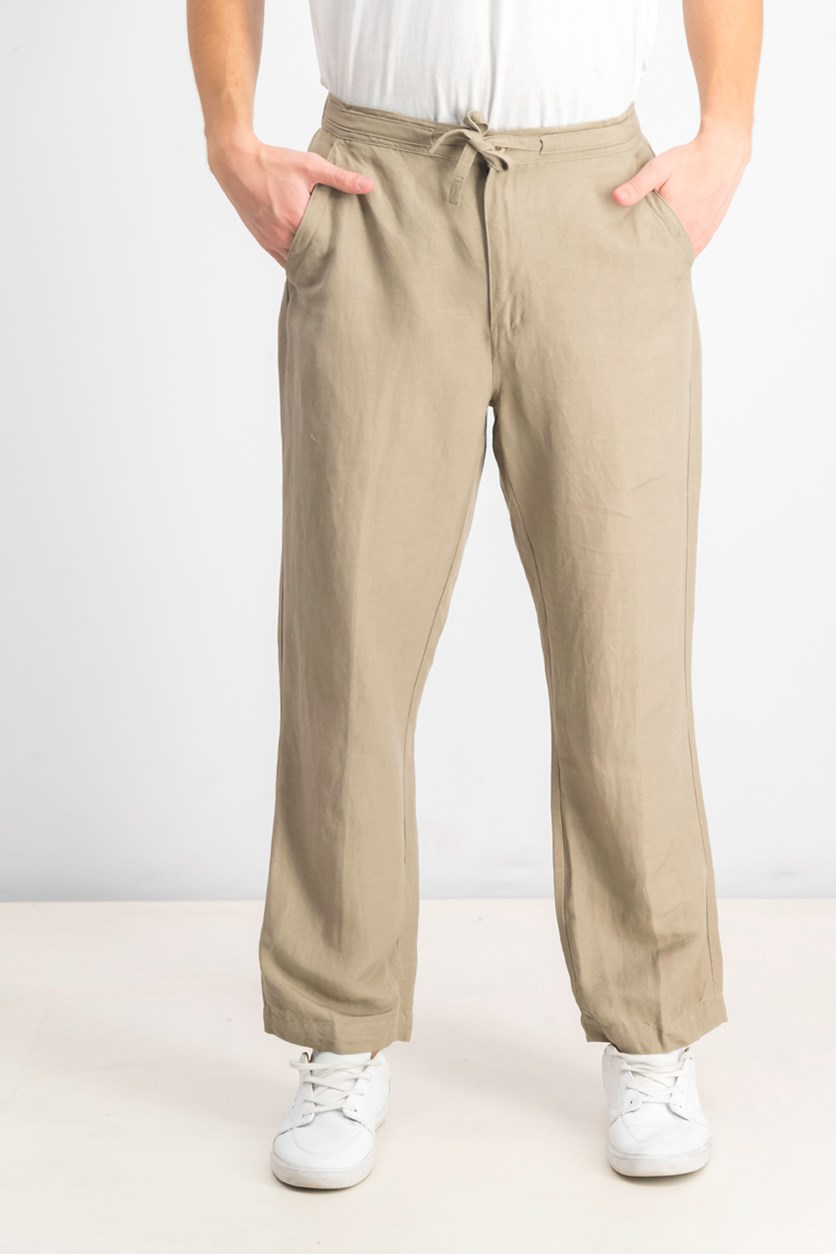 Men's Linen Pants, Tan