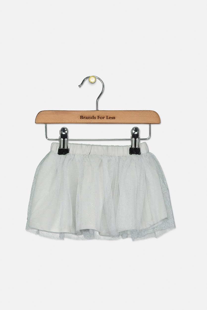 Baby Girls Metallic Tutu Skirt, Silver