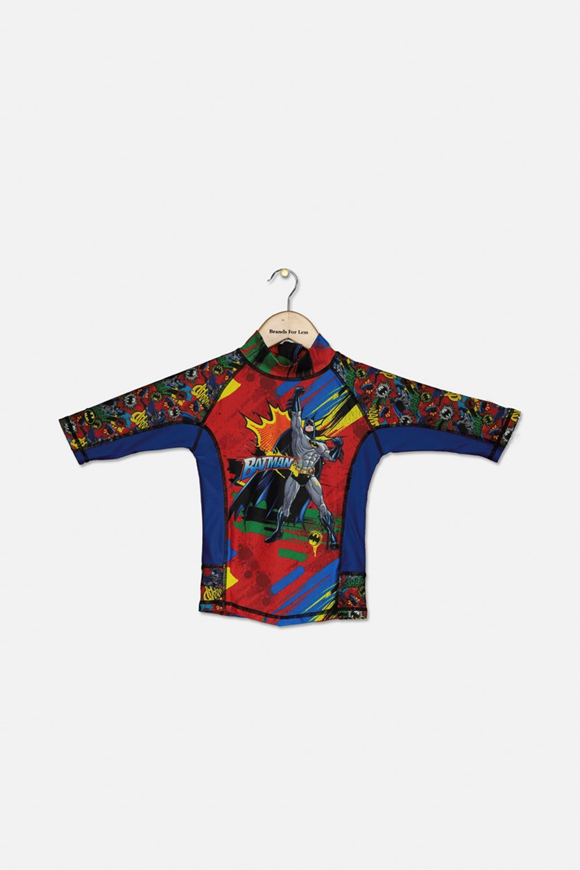 Toddlers Batman Swim Shirt, Blue Combo