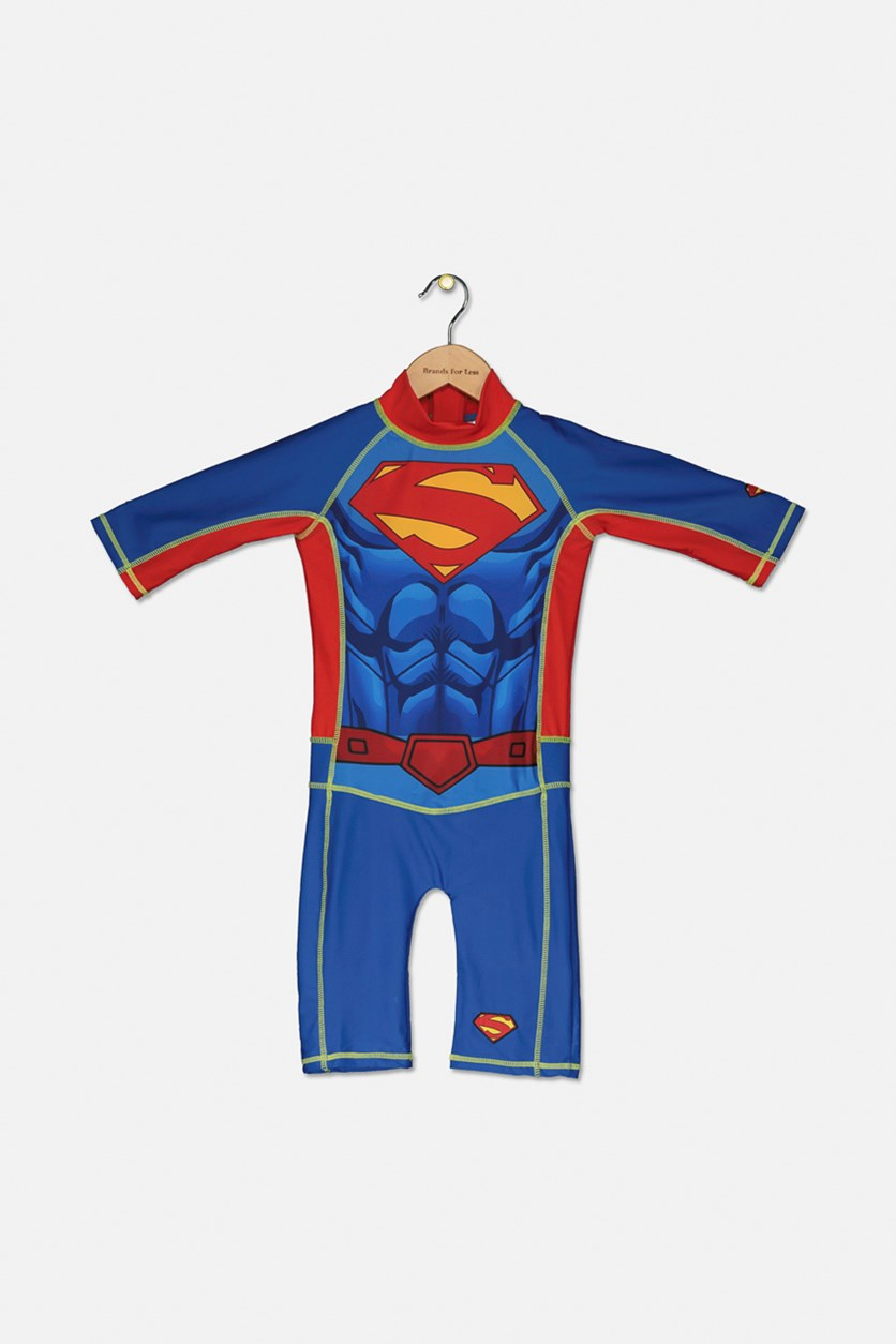 Gymcare Toddlers Superman UV Suit, Blue/Red