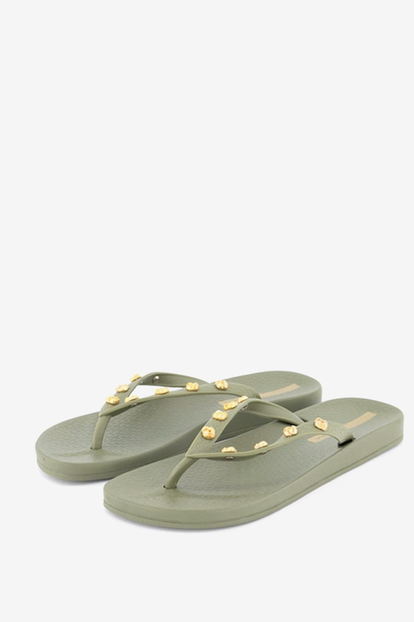 Women's Slip On Slippers, Pale Green