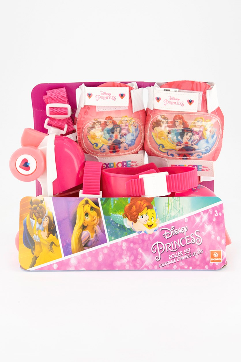 Princess Roller Skates With Protective Pads, Pink
