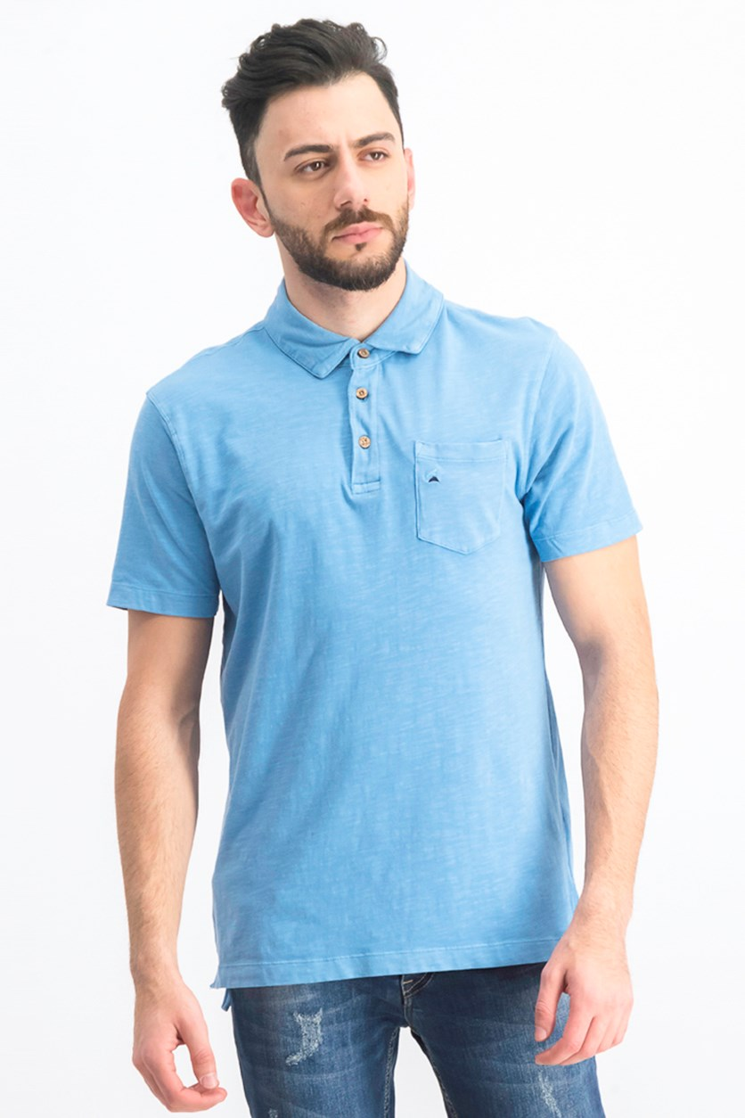 Men's Andy Jersey Polo, Sterling Blue