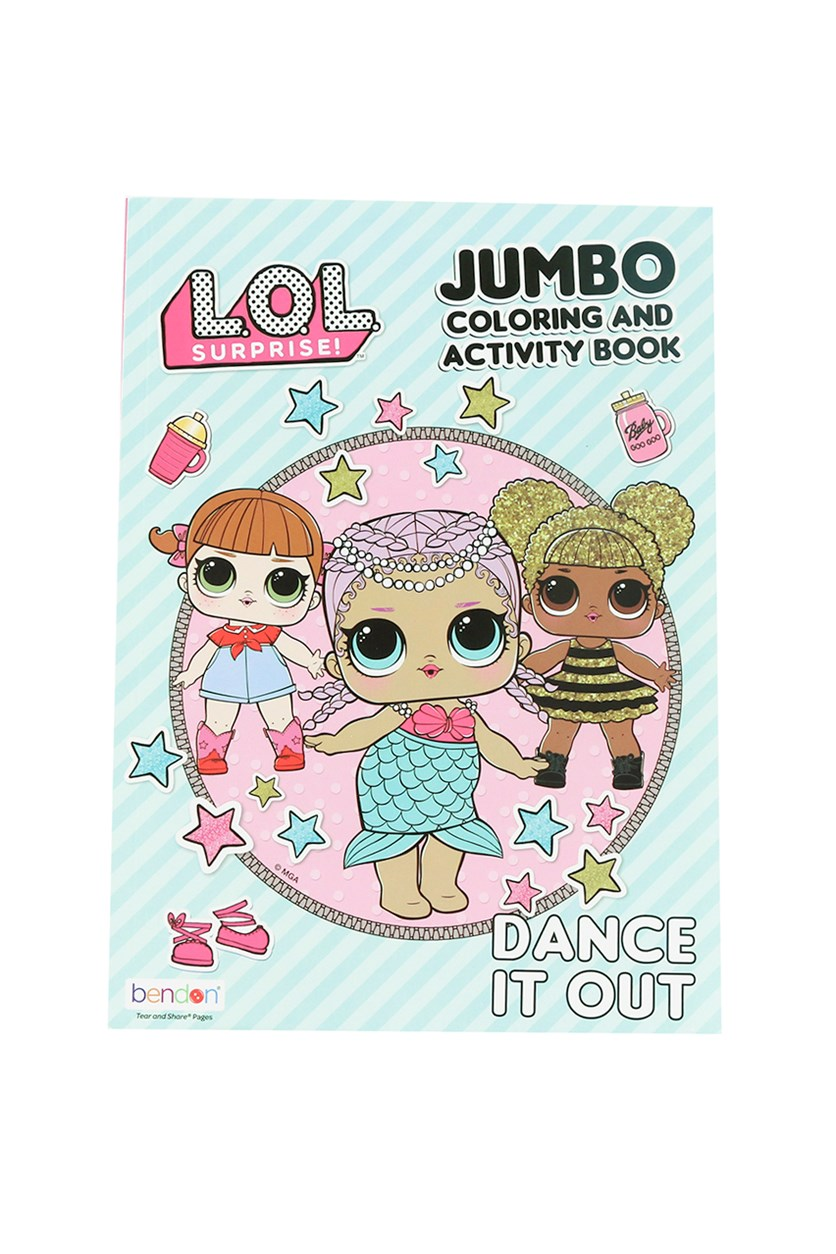 LOL Surprise Jumbo Coloring and Activity Book, Pink