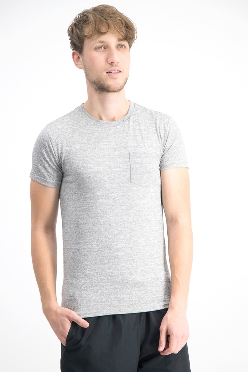 Men's Stretch Pocket Tee, Heather Gray