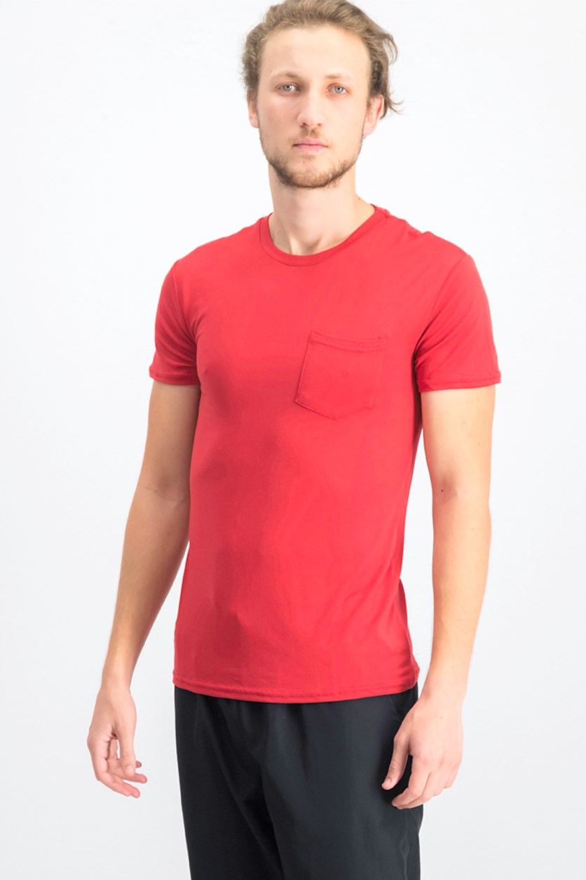 Men's Stretch Pocket Tee, Red