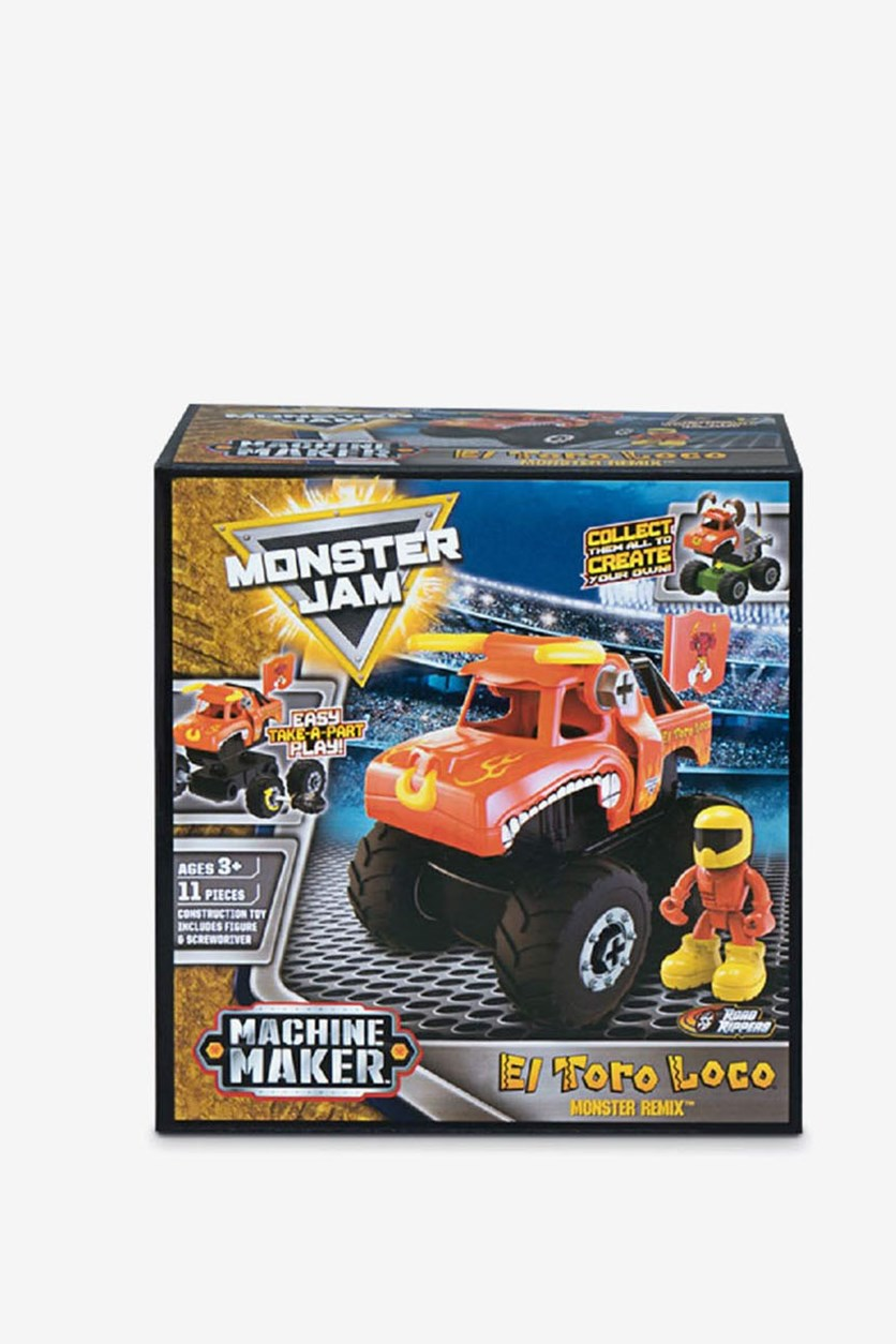 Monster Jam Machine Maker Remix Road Rippers, Red