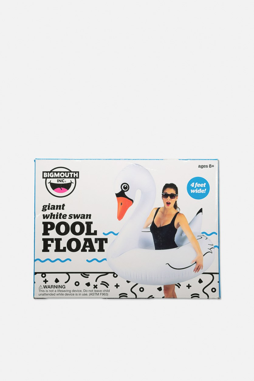 Giant Inflatable Swan Pool Float, White