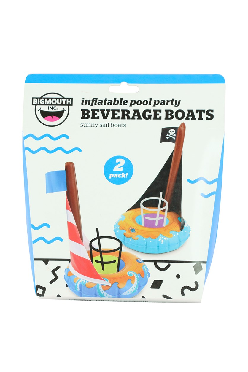 2 Piece Beverage Boats, Blue Combo