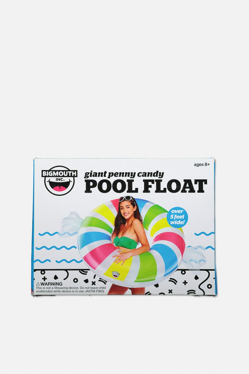 Giant Penny Candy Pool Float, White Combo