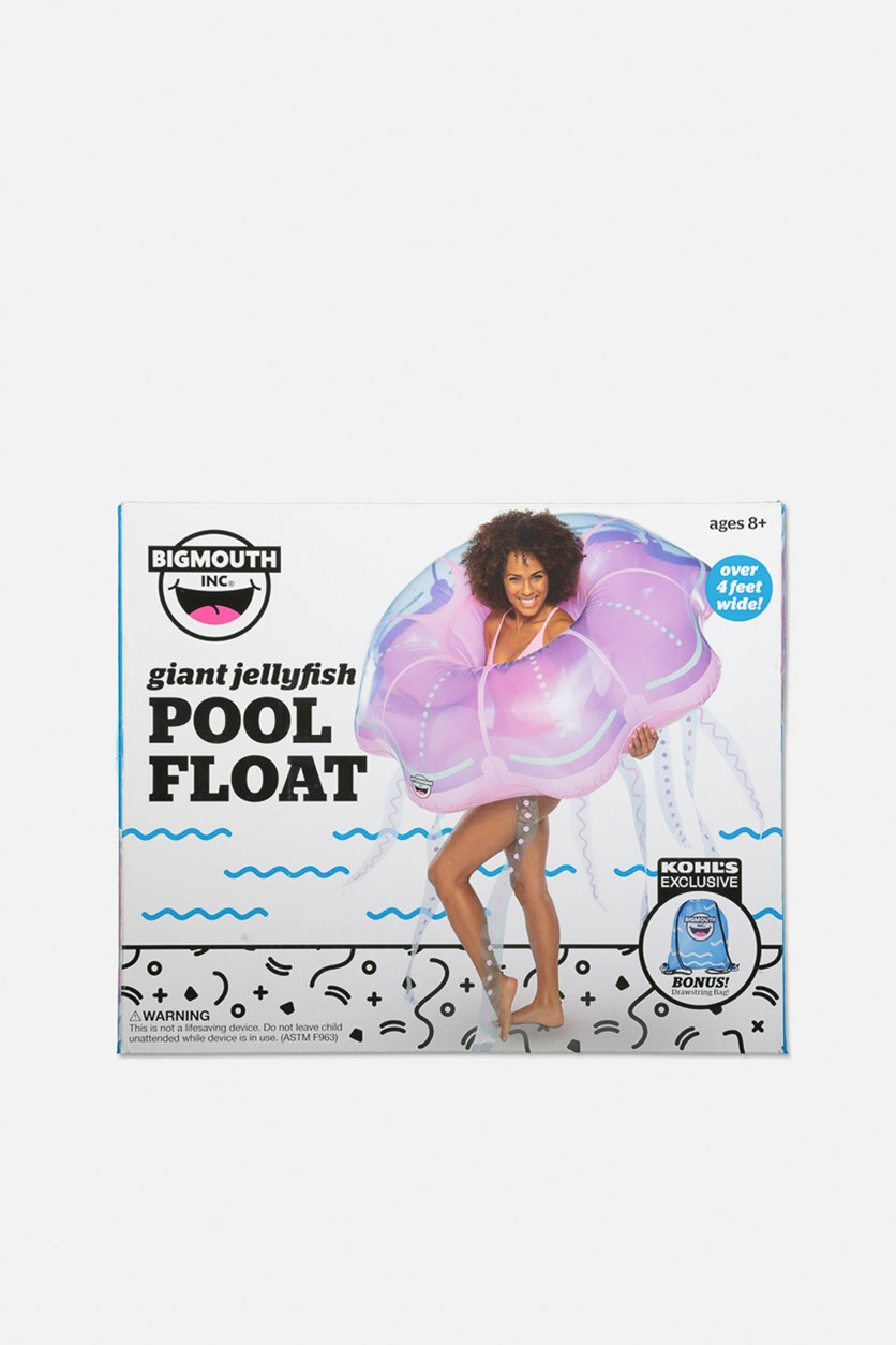 Giant Inflatable Jellyfish Pool Float, Pink/Blue