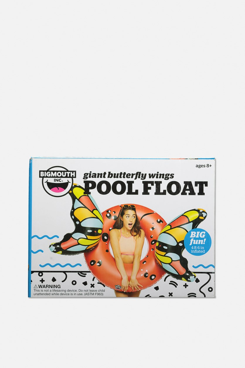 Giant Inflatable Butterfly Wings Pool Float, Red