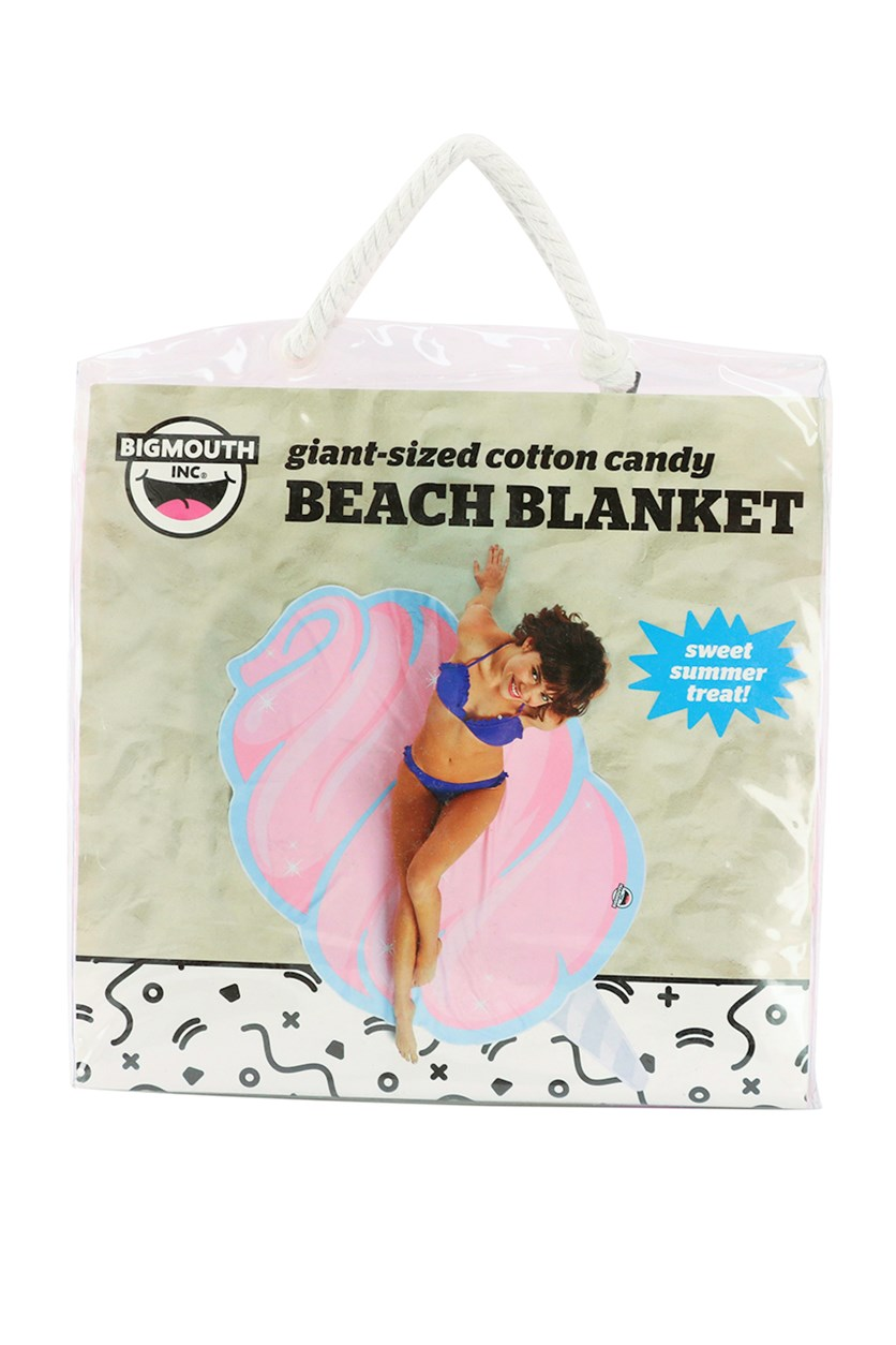 Giant Cotton Candy Beach Blanket, Pink