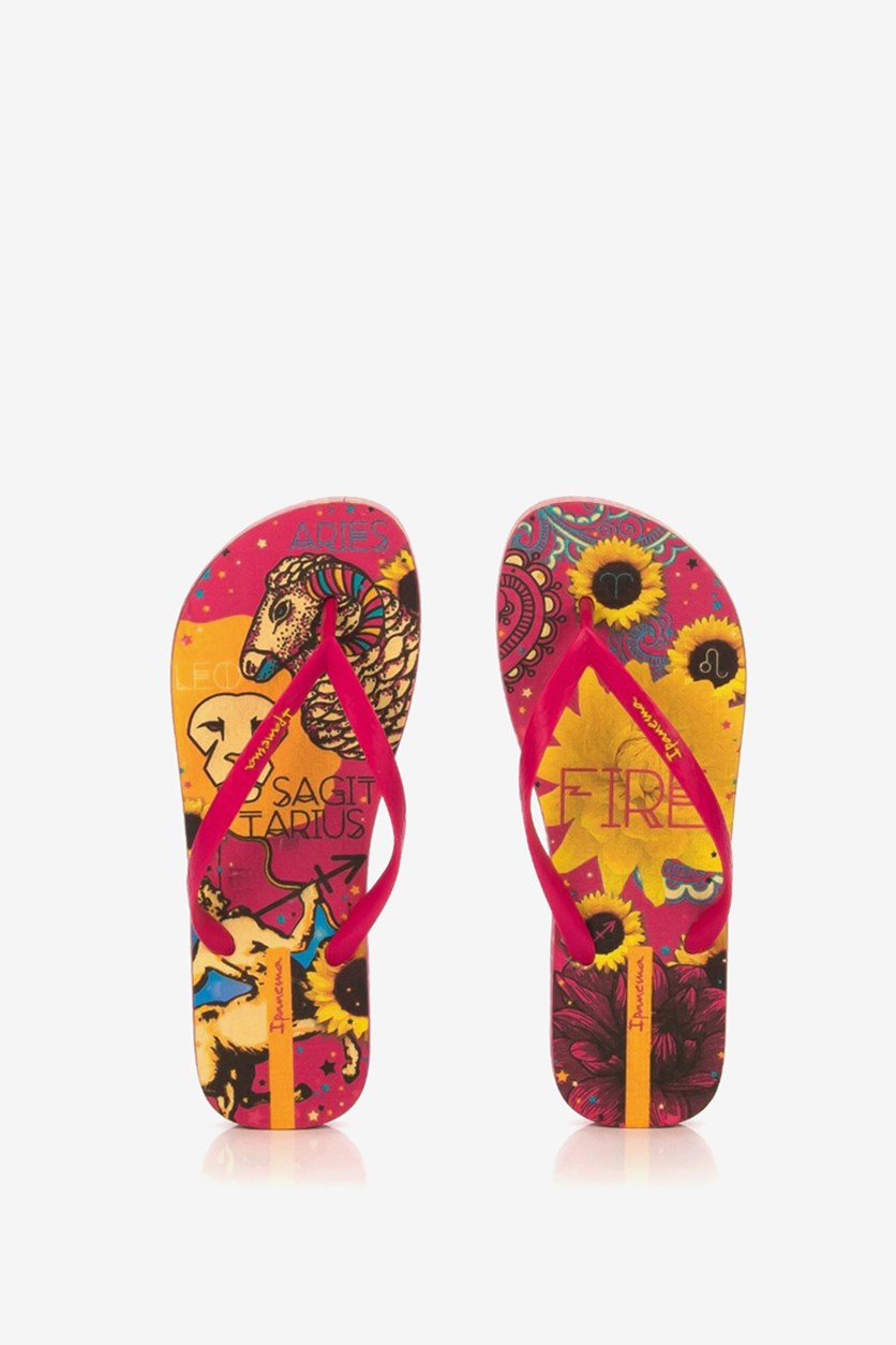 Women's Floral Print Slipper, Pink Combo