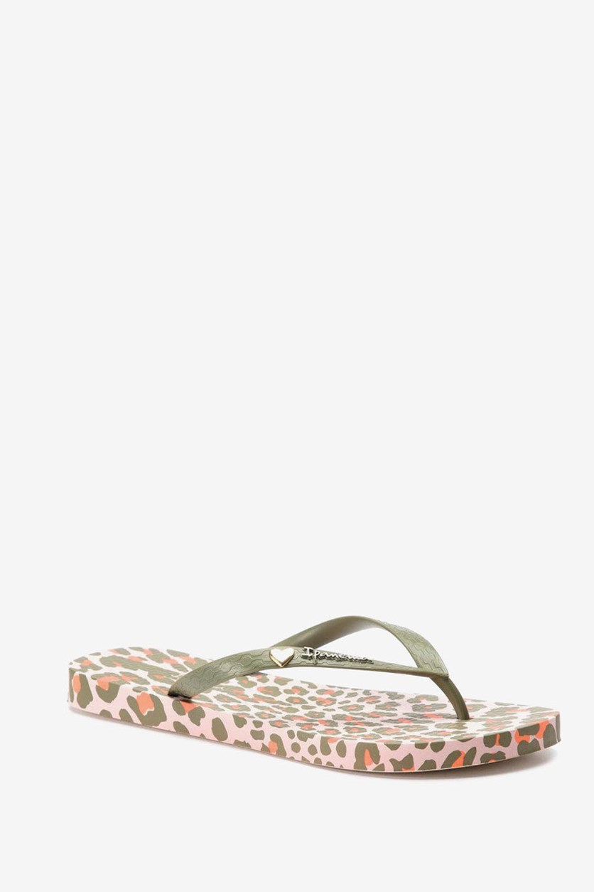 Women's Animal Print III Slipper, Olive/Beige Combo