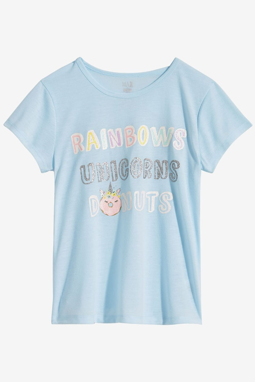 Girls Graphic-Print Pajama Top, Blue