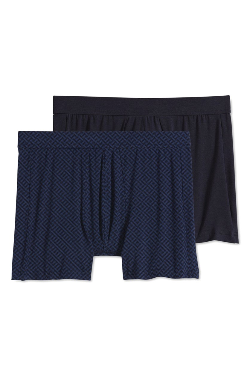 Men's 2 Pack Stay Cool Essential Fit Boxer Briefs, Navy Blue