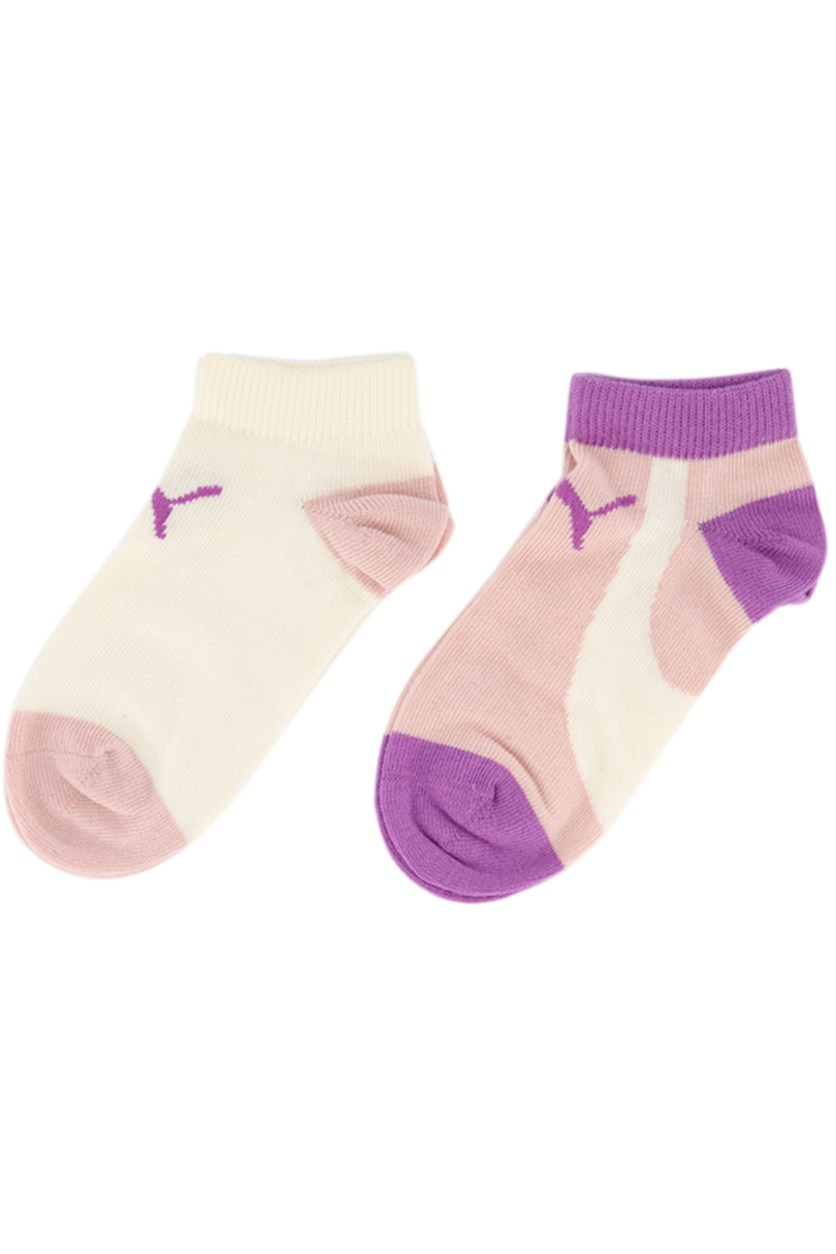 Baby Girls 2 Pack Socks, Blush/Ivory/Purple