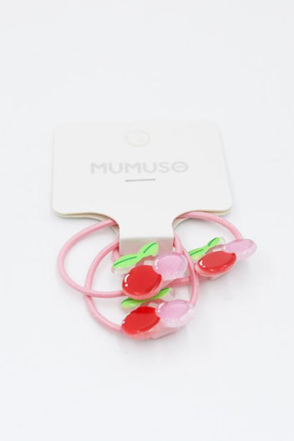 Jelly Hair Tie, Pink/Yellow