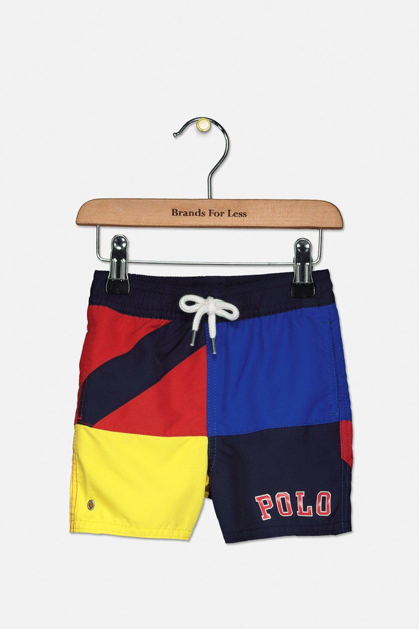 Baby Boy's Captiva Swim Shorts, Navy/Red/Yellow