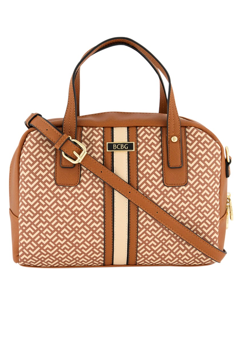Women's Calla Signature Satchel, Cognac