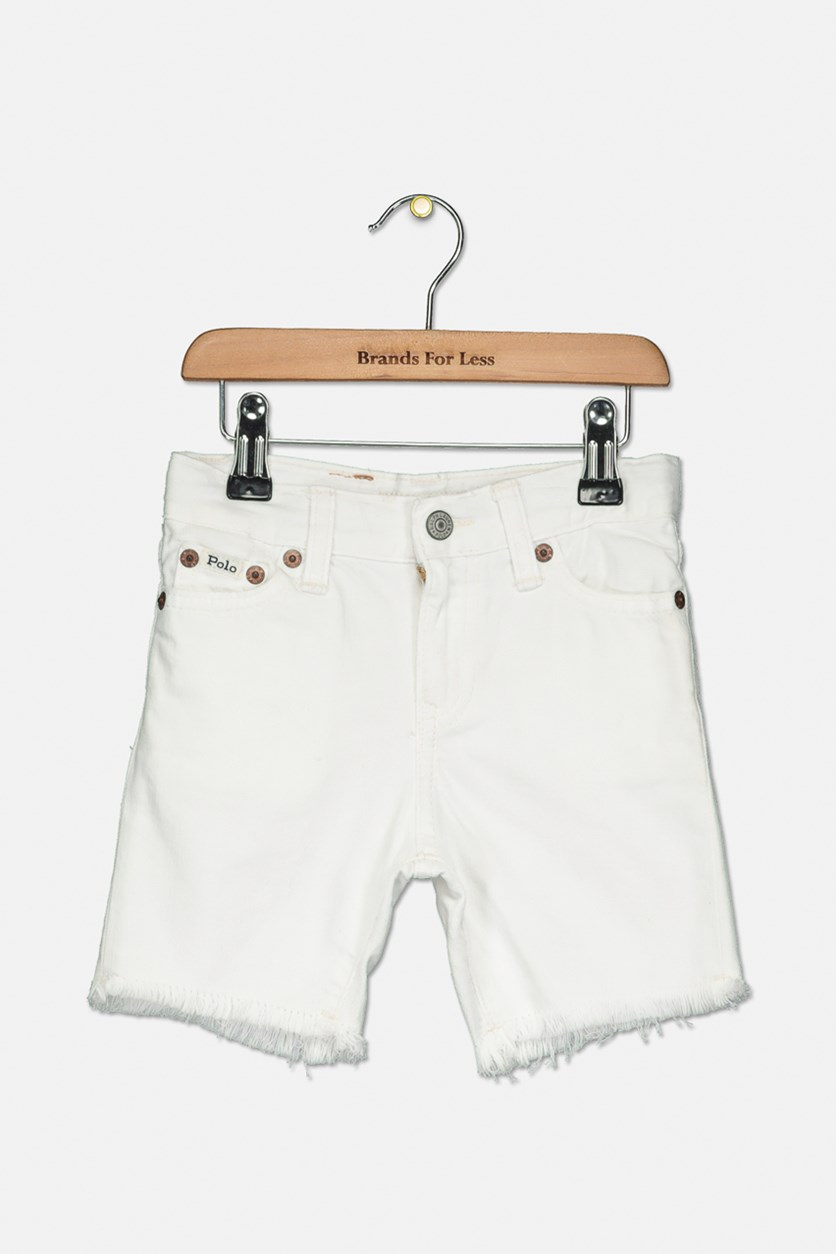 Toddler Boys' Denim Shorts, White