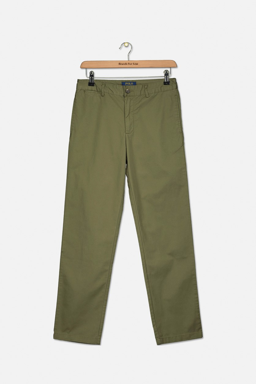 Boys' Lightweight Chino Pants, Green