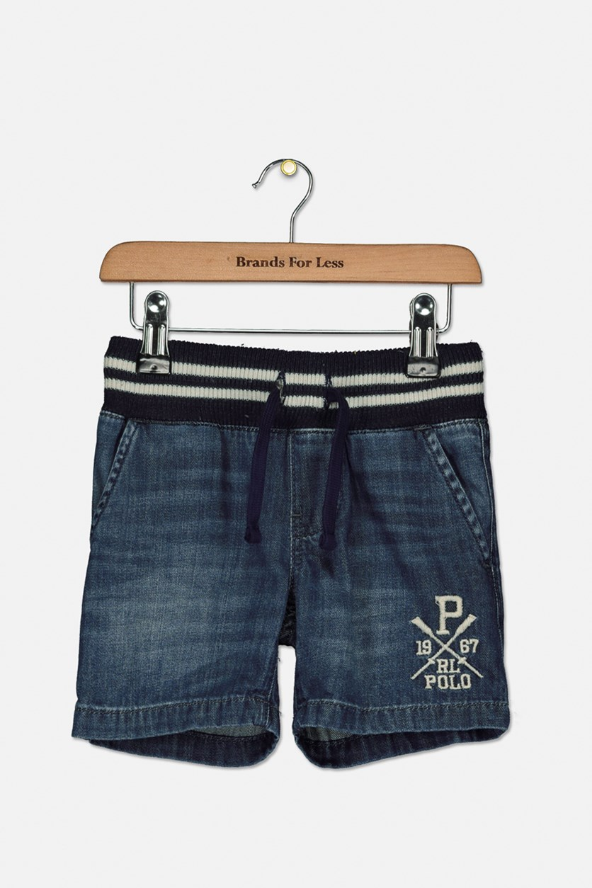 Toddler Boys Denim Shorts, Donny Wash