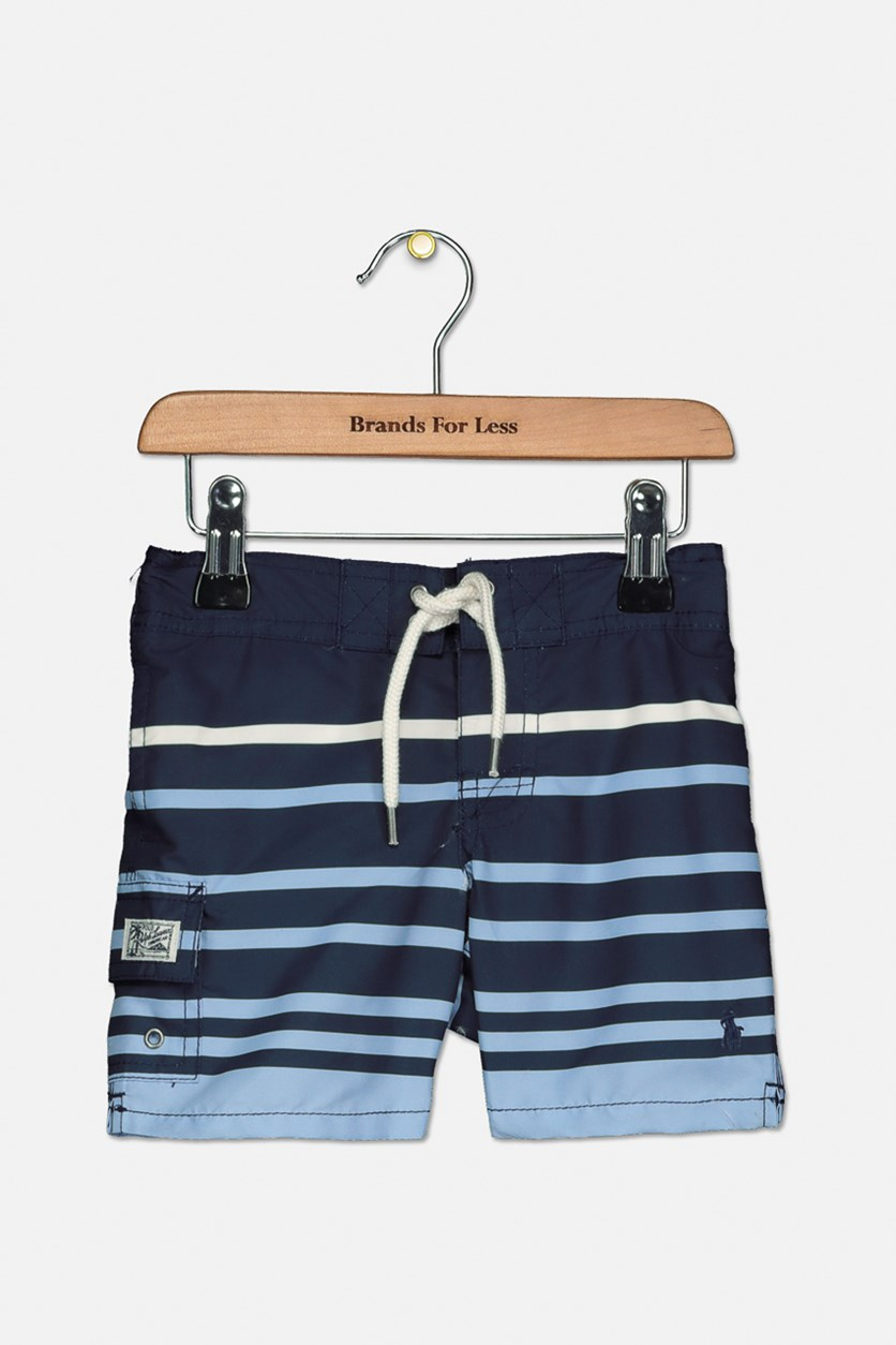 Baby Boys' Kailua Striped Swim Trunks, Blue Combo