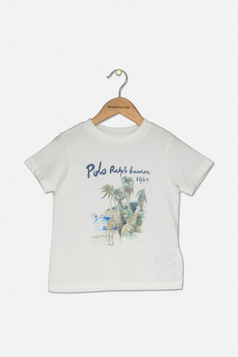 Little Boy's Graphic Printed Top, White