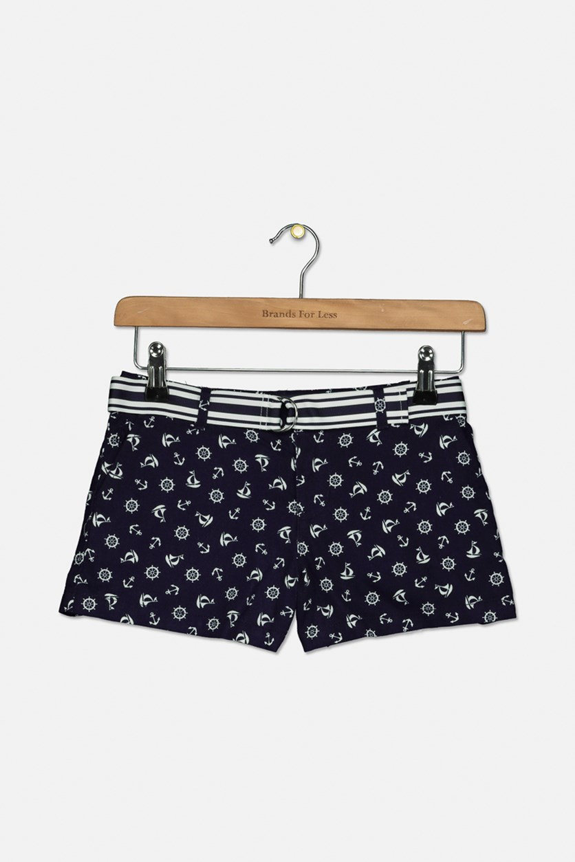 Girls Chino Shorts, Navy