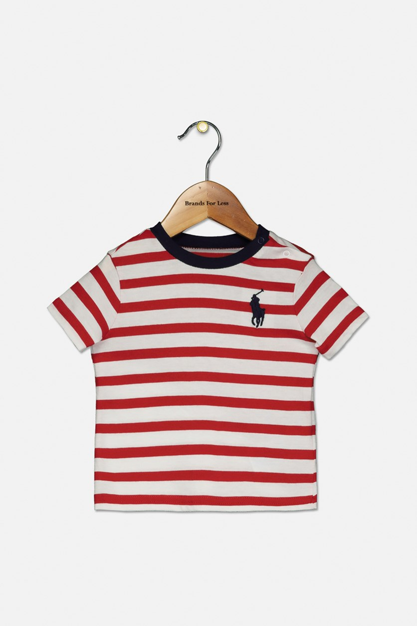 Baby Boys Striped T-Shirt, Red/White
