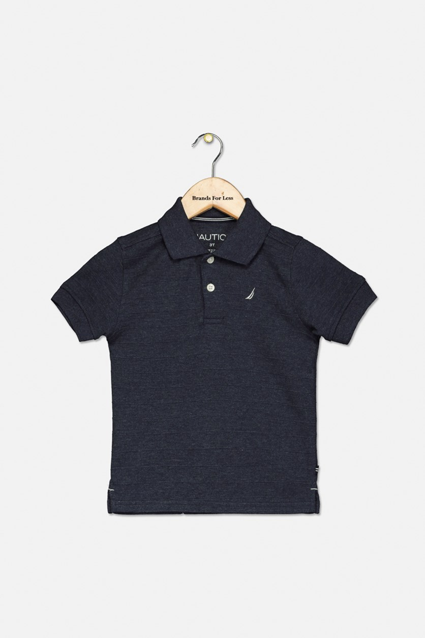 Toddler's Boy's Short Sleeves Polo Shirt, Charcoal Grey