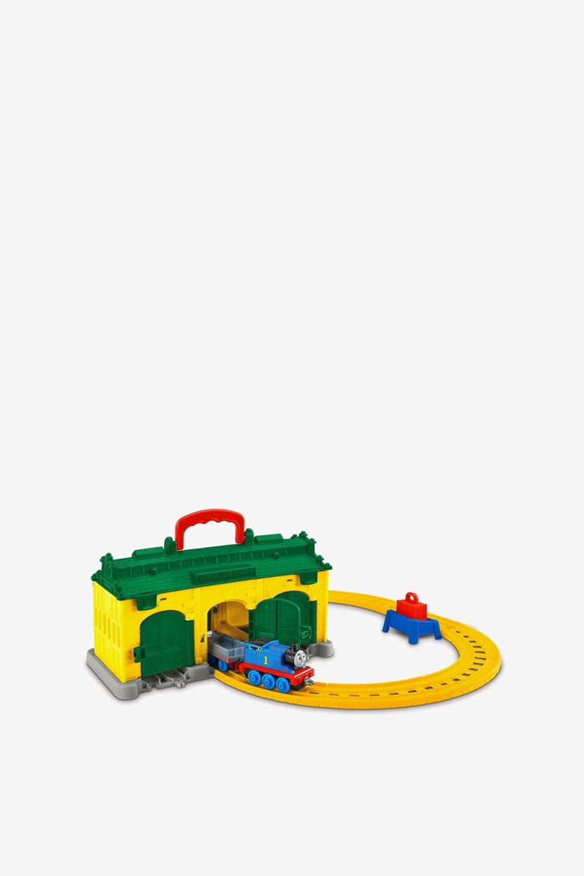 Tidmouth Sheds Portable Set, Green/Yellow