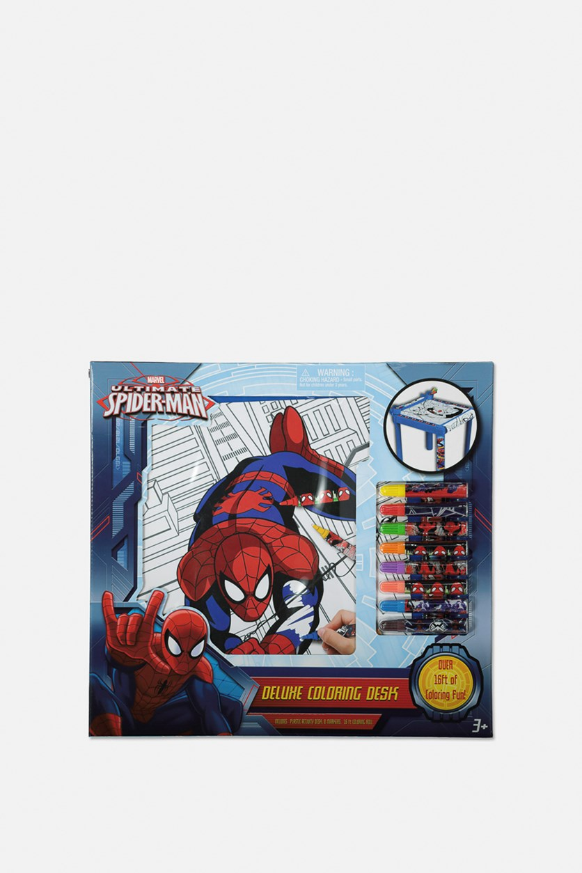 Spider-Man Deluxe Coloring Desk, Red/Blue Combo