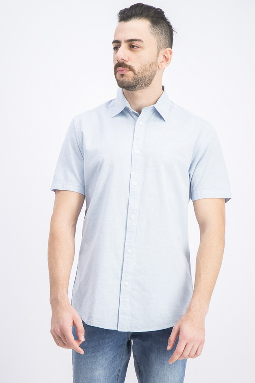 Men's Baker Slub Short Sleeve Shirt, Blue
