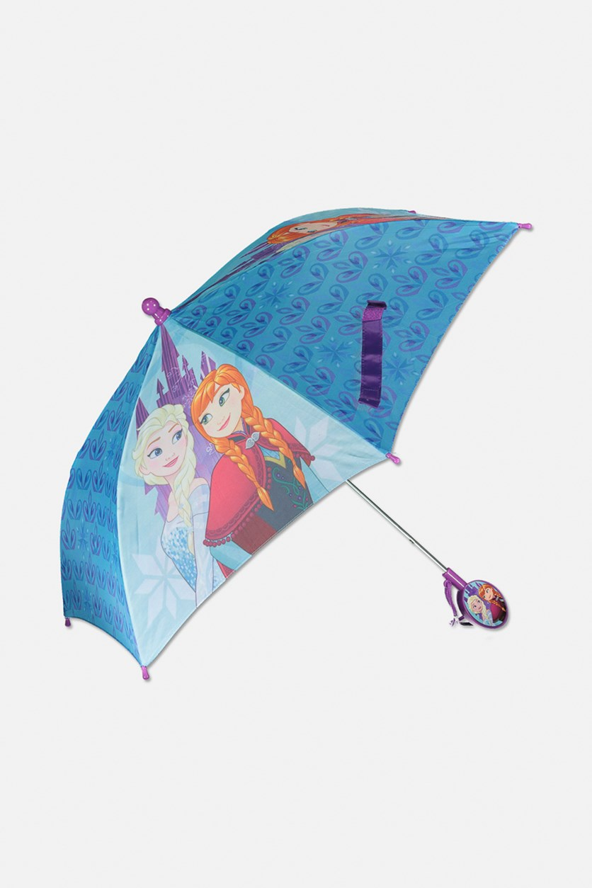Kids Frozen Umbrella, Blue/Purple