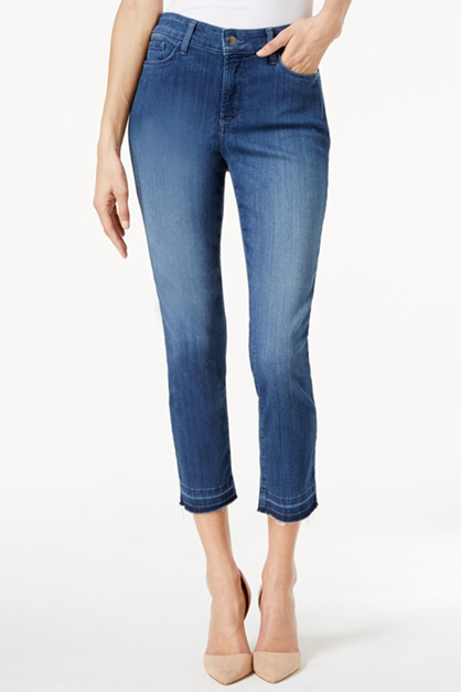 Women's Nichelle Release Hem Stretch Ankle Jeans, Blue