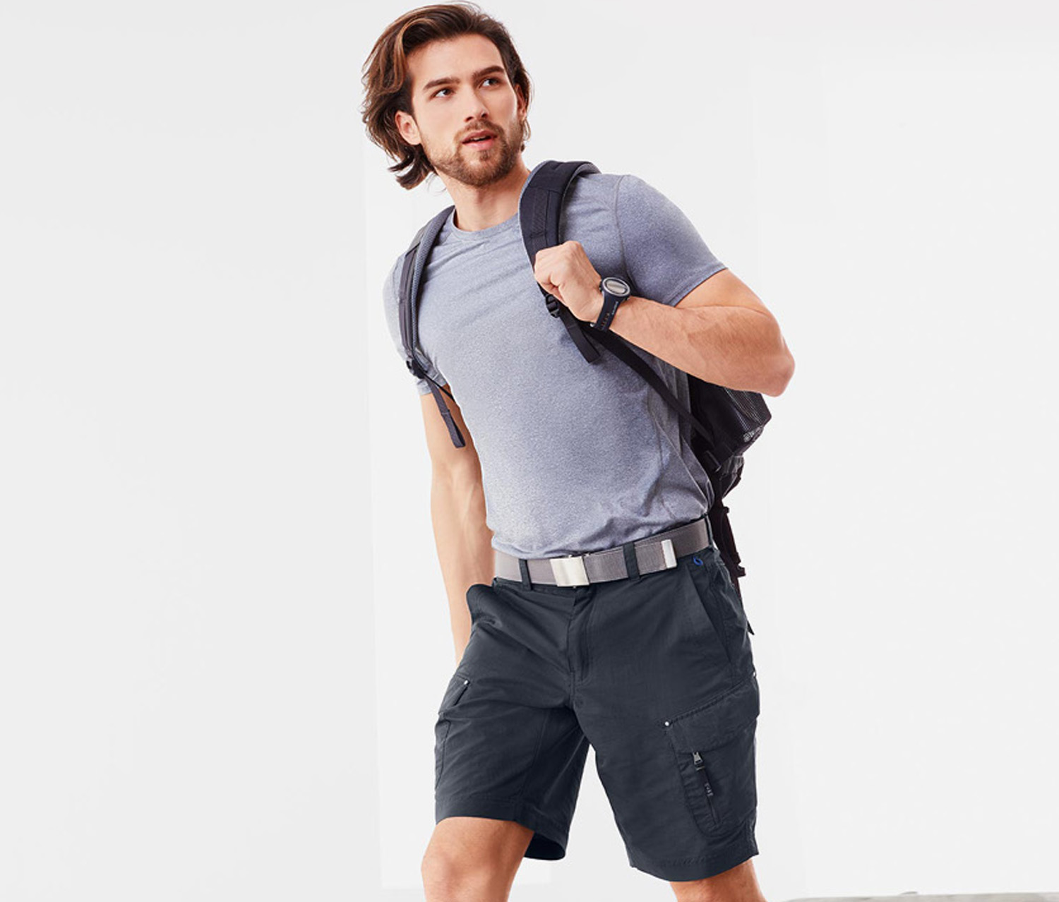 Men's Functional Shorts, Dark Grey