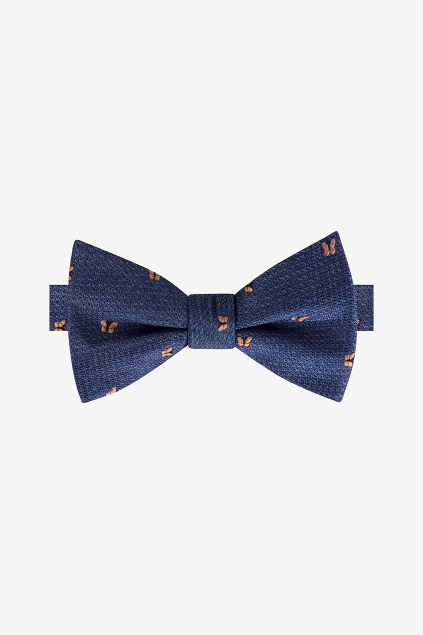 Men's Butterfly To-Be Tied Bow Tie, Navy/Orange