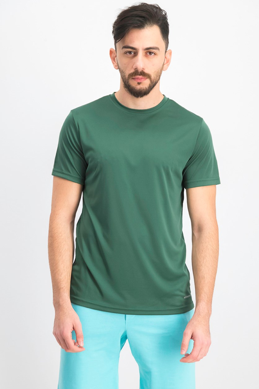 Men's Crew Neck Plain T-shirts, Dark Green