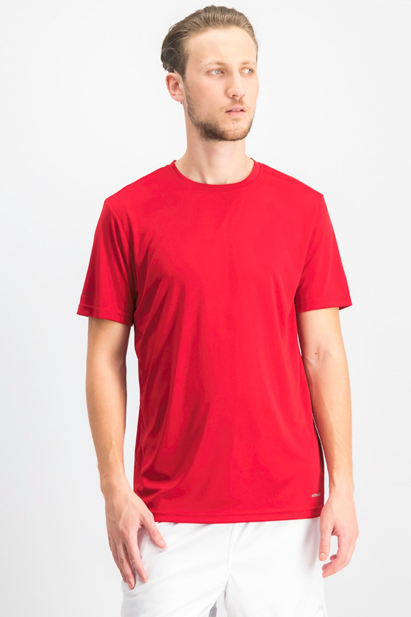 Men's Crew Neck Plain T-shirts, Red