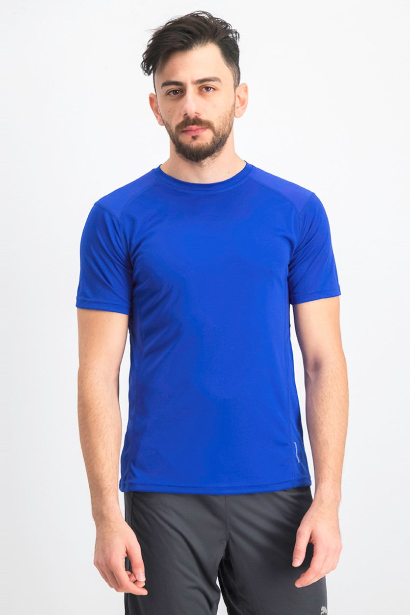 Men's Crew Neck Short Sleeve T-shirts, Royal Blue