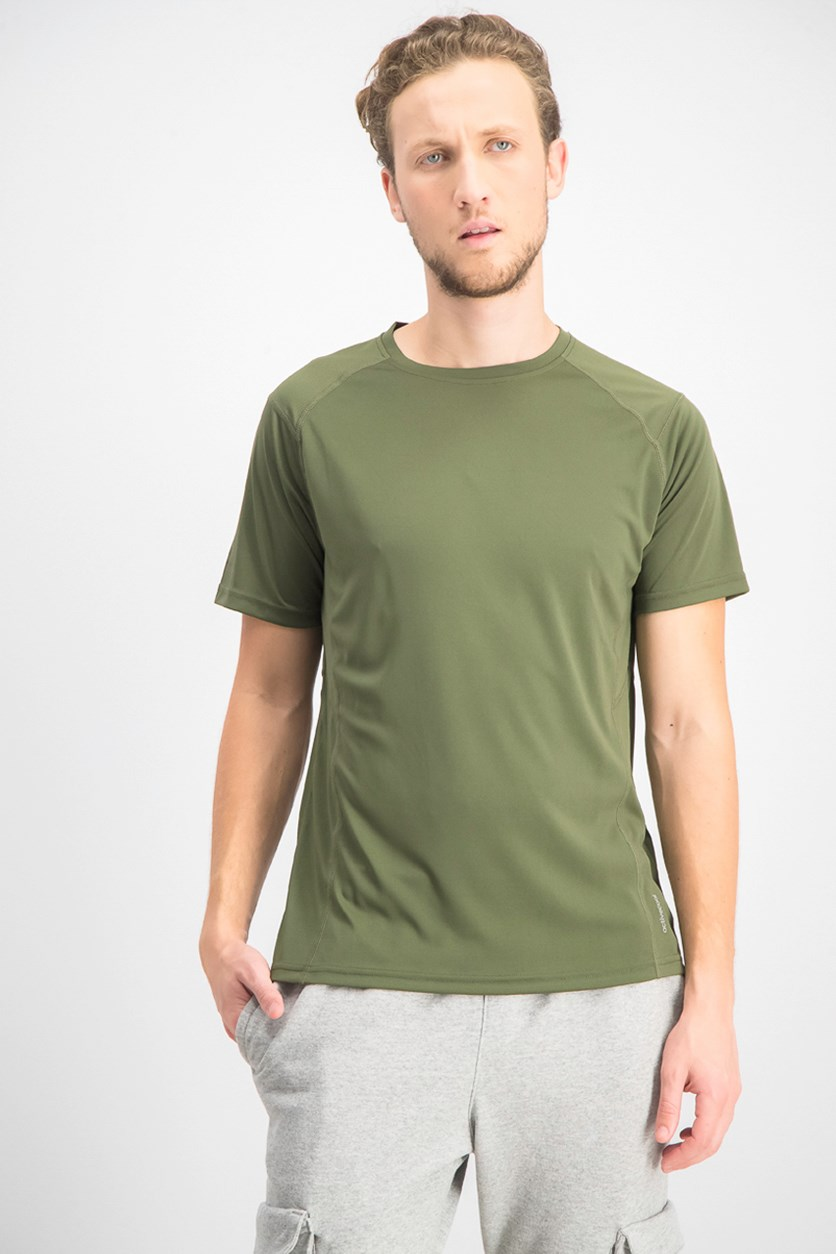 Men's Crew Neck Short Sleeve T-shirts, Army Green