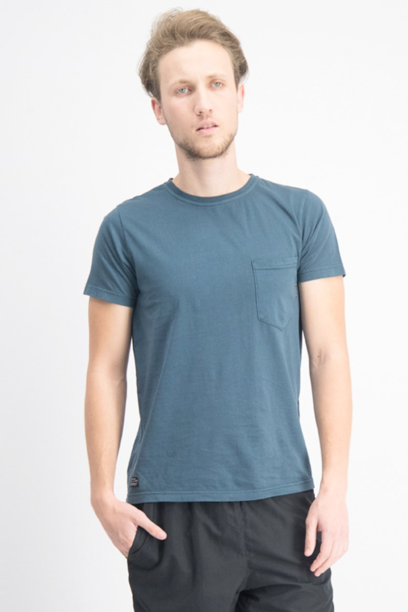 Men's Crew Neck With Pocket T-shirt, Teal
