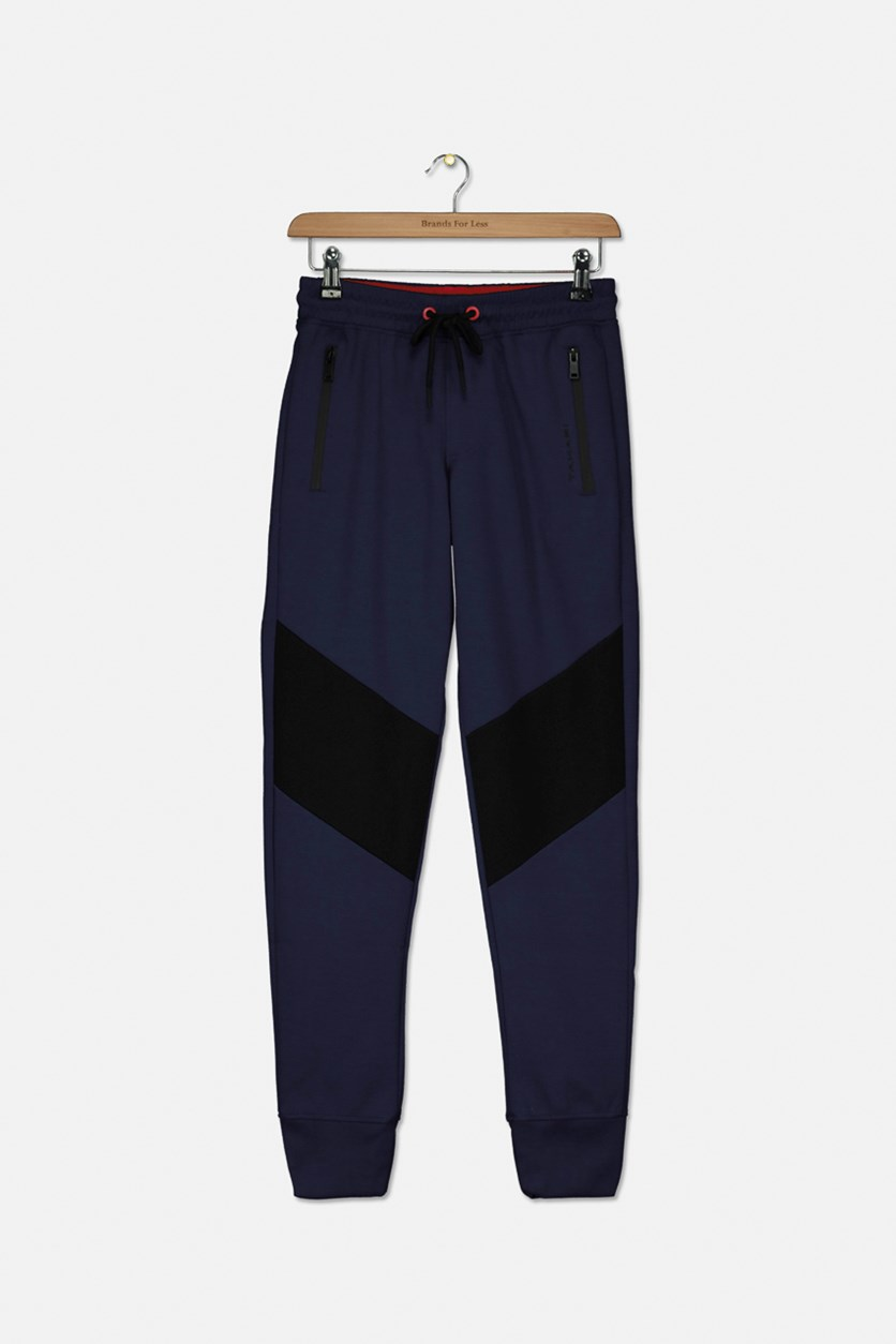 Big Boys Colorblock Jogger Pants, Navy/Black