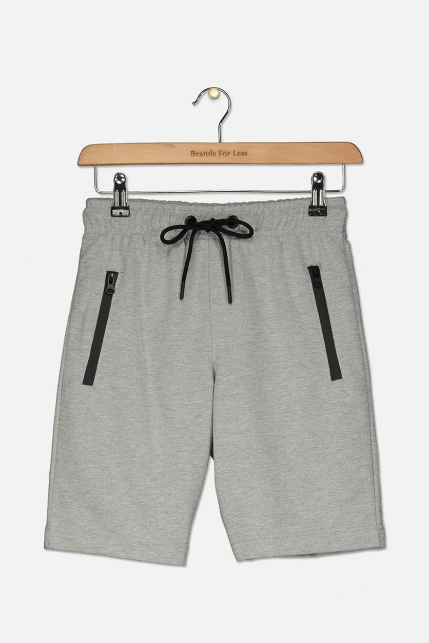 Kids Boys French Terry Drawstring Shorts, Melange