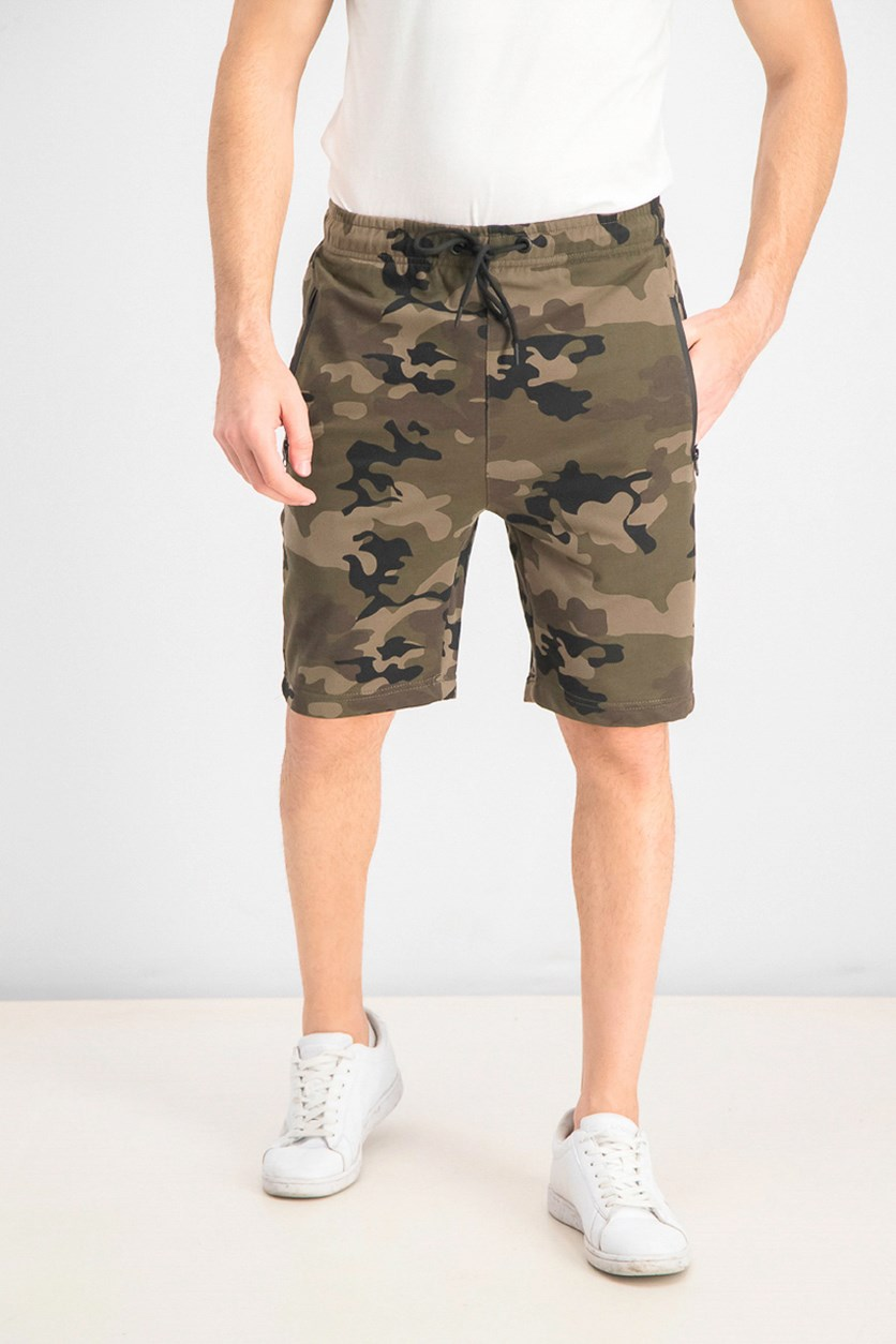 Men's French Terry Camouflage Short, Khaki