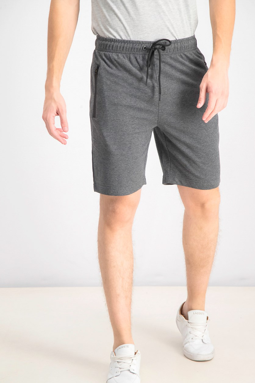 Men's French Terry Pull-On Short, Dark Melange